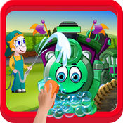 火车洗沙龙 - 清理和修复生锈和凌乱的机车在这个游戏中洗