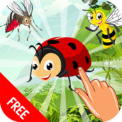 昆虫词汇词英语学习游戏为孩子,幼儿和学龄前儿童