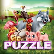 動物在農場拼圖 1