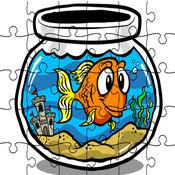 海水魚水族館拼圖遊戲為孩子 1