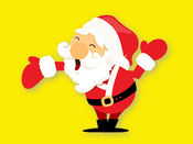圣诞老人可爱表情贴图