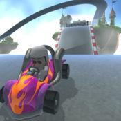 卡通土地迷你汽车驾驶模拟