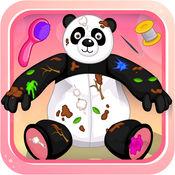 熊猫布娃娃-修理打扮洋娃娃 1