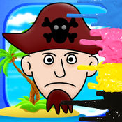 海盗图画书 - 免费学习游戏海洋永不地为孩子