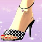 炸药脚趾和鞋设计师