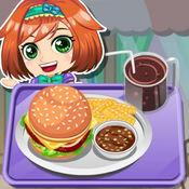 阿sue做汉堡午餐