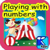 玩弄数字。了解了几十,偶数和奇数,拔地而起的若干行,多为4〜7岁的儿童。