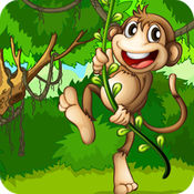 猴子香蕉 - 吃香蕉的猴子