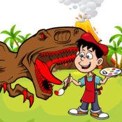 着色书恐龙T雷克斯游戏的孩子免费 1.2
