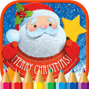 圣诞老人彩页圣诞书为孩子