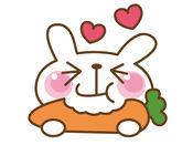 微笑兔子贴纸 1