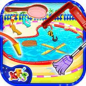 杂乱池洗 - 清理和修复池在这个发廊游戏的孩子
