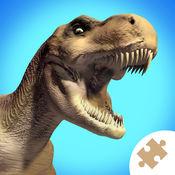 """""""恐龙史前动物""""益智游戏 : 学前儿童, 小女孩们的逻辑游戏"""