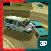 警车车追赶 - 交通赛车游戏 1