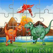 迪诺益智拼图游戏免费:恐龙拼图孩子幼儿和学龄前学习游戏