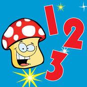 幼儿园的孩子计数游戏数到十 - 好玩的早期教育数学学习和