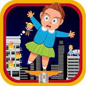 屋顶跳线 - 消防救援的冒险与疯狂的跳跃类游戏
