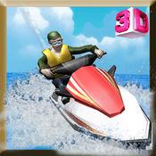 喷气滑雪模拟器 - 摩托艇驾驶和停车位模拟游戏 1