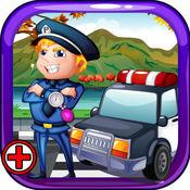 警察手术 - 在这家医院的医生操作游戏警察受伤 1