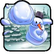 不断增长的冷冻雪球 - 滚动冰球疯狂