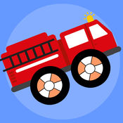 消防队员救护车爬山比赛 - 我是消防员宝宝巴士小游戏