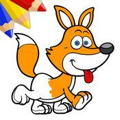好笑的动物 – 给小男孩、小女孩和孩子们的涂色书 1