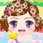 可爱宝宝爱洗澡H...
