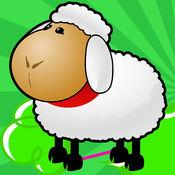 有趣的动物农场的益智游戏的孩子。1