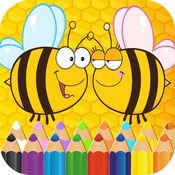 着色 页面 蜜蜂 : 重音 成年人小游戏