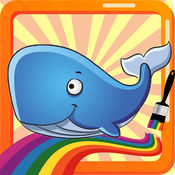 深海动物世界最佳着色页为孩子