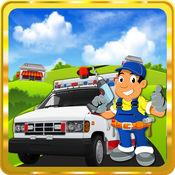 救护车的维修店 - 疯狂汽车车间发廊和车库游戏