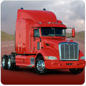 货物转运 - 路上的卡车货物交付及停车 1