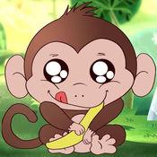 丛林猴子捡香蕉 - 猴子跳跳