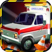 3D救护车停车模拟器 - 城市救援驱动器