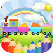可爱的汽车着色书儿童游戏 1