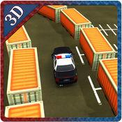 警车停车场 - 城市驾驶模拟