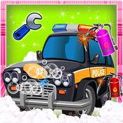 警车修理和修复它 - 汽车整车清理 1