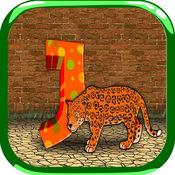 ABC字母英语学习乐趣游戏的孩子们
