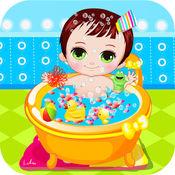 可爱宝宝洗澡...
