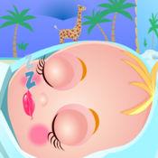 可爱宝贝照顾小婴儿
