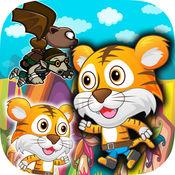 微型虎润 - 超级世界动物运行游戏