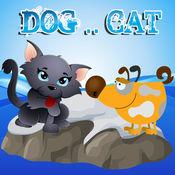 狗和猫的拼图幼儿园和孩子们免费 1