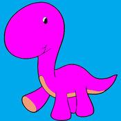 兒童圖畫書 - 可愛的卡通恐龍檜木
