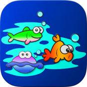 学习水生动物着色为孩子