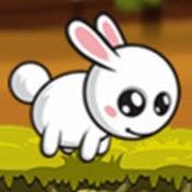 小兔子粉红色的农场匆忙