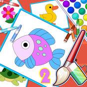 五彩画板拼图填色2 — 儿童画画启蒙,认动物游戏