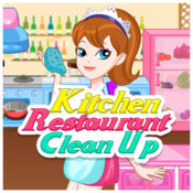 厨房餐厅清理游...