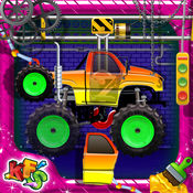 怪物卡车厂 - 疯狂的力学车库 1