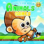 ABC动物游戏的孩子