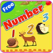 学习英语V1:学习数字1到10 - 为孩子和幼儿免费教育游戏 1.0